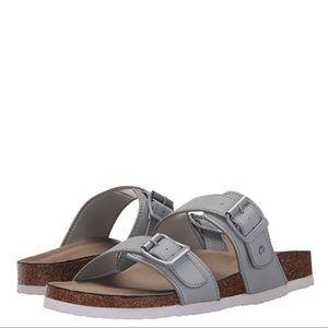 Madden Girl silver strapped sandal
